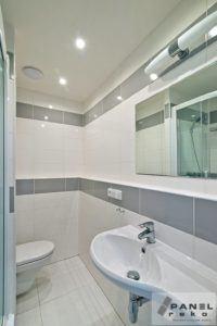 Bílo-šedá koupelna