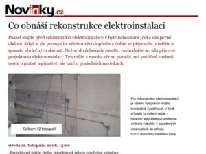 co obnáší opravy elektroinstalací