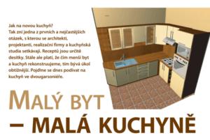Článek Malý byt - malá kuchyně