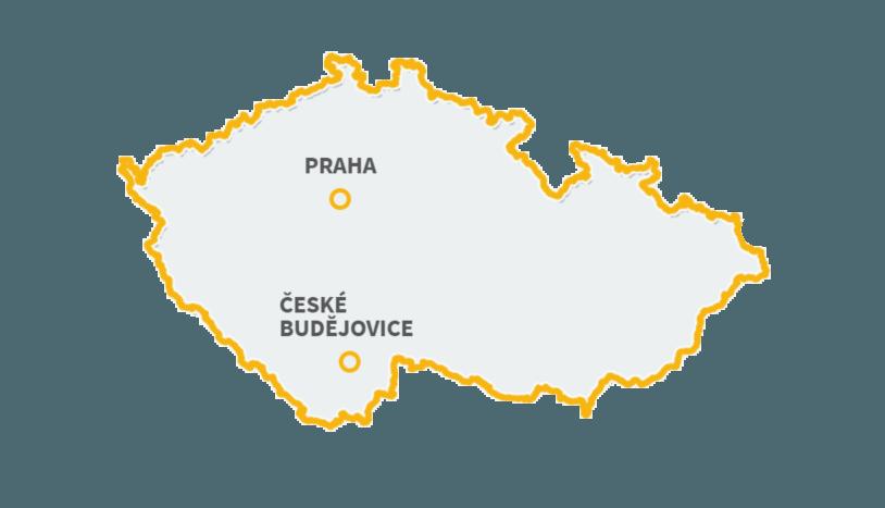 mapama praha české budějovice
