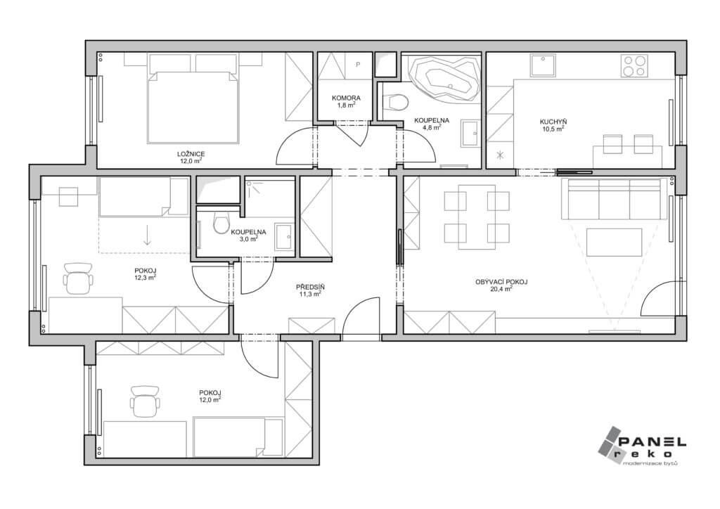 Nové řešení bytu