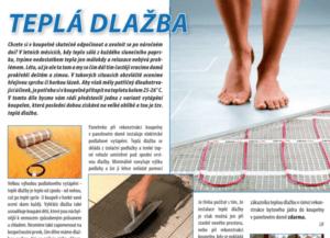 Teplá dlažba - podlahové vytápění - reference